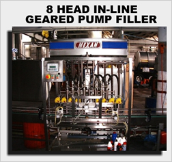 8 head in-line pump filler